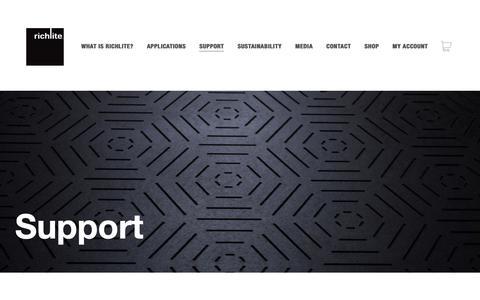 Screenshot of Support Page richlite.com - Support - Richlite - captured Oct. 19, 2018