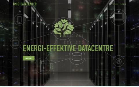 Screenshot of Home Page uniqdatacenter.com - Uniq Datacenter  Uniq Datacenter - Verdens mest effektive it-køling - captured Oct. 19, 2018