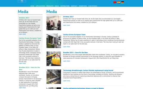 Screenshot of Press Page cavitus.com - Media – Cavitus - captured Nov. 10, 2018