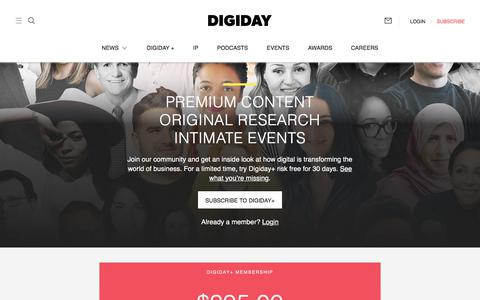 Screenshot of Signup Page digiday.com - (1) New Message! - captured Aug. 7, 2018
