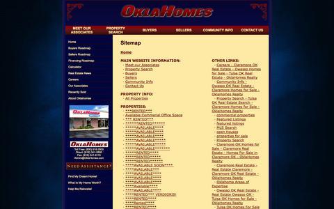 Screenshot of Site Map Page oklahomes.com - OklaHomes - Realtors - captured Oct. 7, 2014