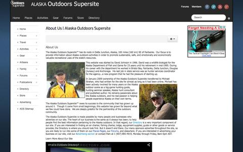 Screenshot of About Page alaskaoutdoorssupersite.com - About Us | Alaska Outdoors Supersite - Alaska Outdoors Supersite - captured March 14, 2016