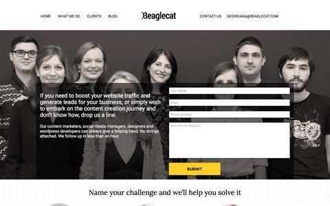Screenshot of Contact Page beaglecat.com - Contact Us | Beaglecat - captured Dec. 31, 2015