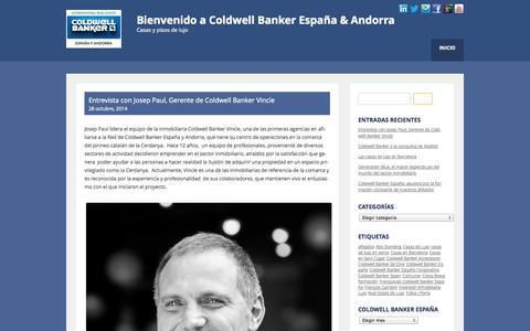 Screenshot of Blog cb-spain.es - Bienvenido a Coldwell Banker España & Andorra - captured Oct. 30, 2014