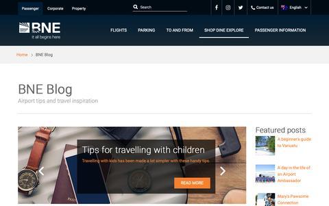 Screenshot of Blog bne.com.au - BNE Blog | Brisbane Airport - captured Nov. 7, 2018