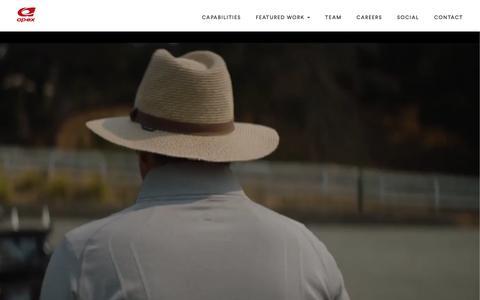 Screenshot of Home Page theapexagency.com - Apex - captured Nov. 12, 2018
