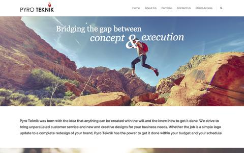 Screenshot of Home Page pyroteknikdesign.com - Pyro Teknik | Striving For Perfection - captured Sept. 17, 2015