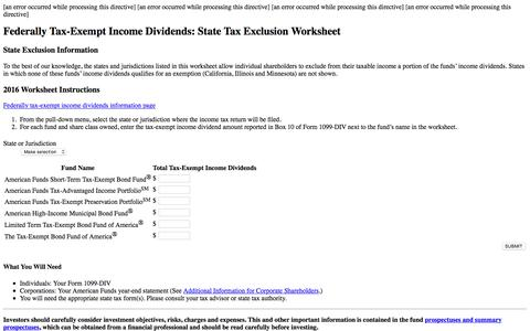 Federally Tax-Exempt Income Dividends: State Tax Exclusion Worksheet