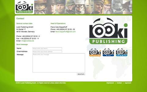 Screenshot of Contact Page looki.com - Looki Publishing - captured Sept. 23, 2014