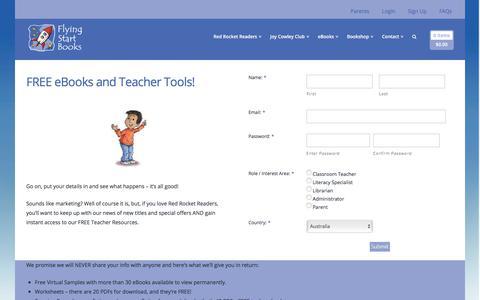 Screenshot of Signup Page flyingstartbooks.com - VIP Sign Up - Flying Start Books - captured Oct. 14, 2017