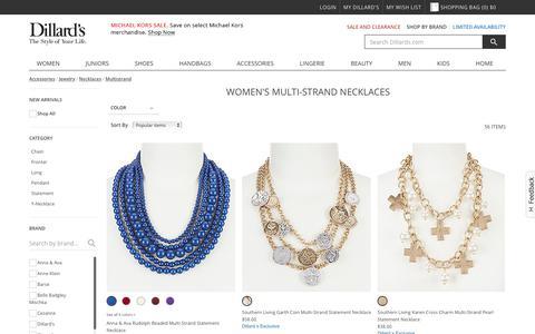 Accessories | Jewelry | Necklaces | Multistrand | Dillards.com