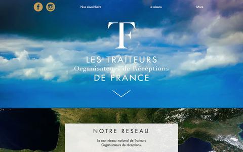Screenshot of Home Page traiteurs-de-france.com - Les Traiteurs de France - captured Feb. 9, 2018