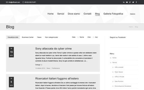 Screenshot of Blog ufficiosrl.com - Blog - Uffici Roma - captured Oct. 20, 2018