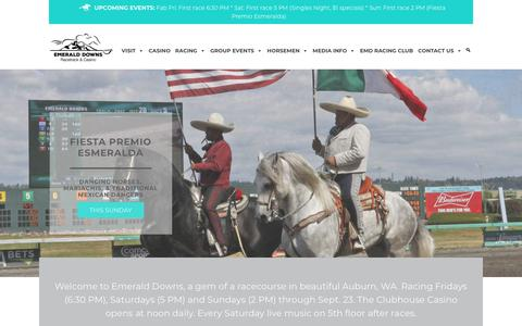 Screenshot of Home Page emeralddowns.com - Home - Emerald Downs - captured July 18, 2018