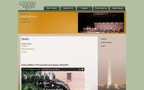 Screenshot of Press Page concertopera.org - Washington Concert Opera - captured Oct. 7, 2014