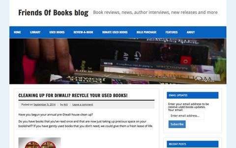 Screenshot of Blog friendsofbooks.com - Book releases, book reviews, author interviews, news from the book world and more. - captured Oct. 29, 2014
