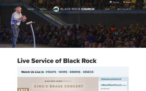 Screenshot of Press Page blackrock.org - Live Service of Black Rock | Black Rock Church - captured July 6, 2018