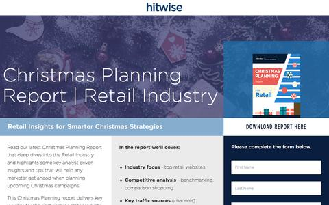 Screenshot of Landing Page connexity.com - Hitwise | Christmas Planning Report | Retail Industry - captured Sept. 19, 2018