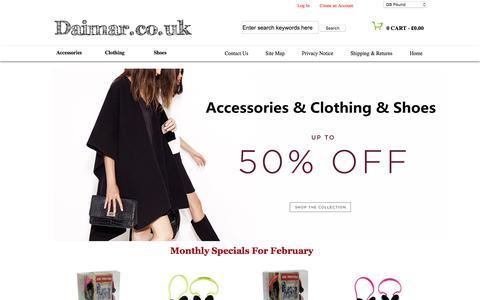 Screenshot of Home Page daimar.co.uk - Firetrap All Over Print Blouse Ladies - Kangol Sleeveless Shirt - captured Feb. 9, 2016