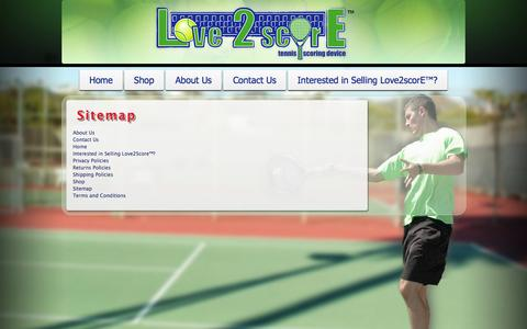 Screenshot of Site Map Page love2score.com - Love 2 Score	 » Sitemap - captured Oct. 4, 2014