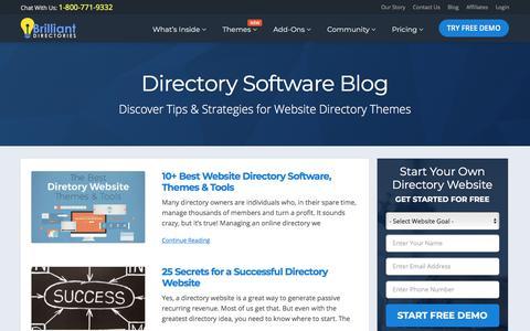 Screenshot of Blog brilliantdirectories.com - Best Directory Software & Directory Themes Blog - Directory Software - Directory Script - Directory Template - captured May 4, 2018