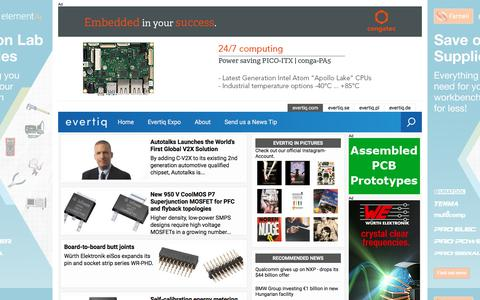 Screenshot of Products Page evertiq.com - Evertiq - fast news for the global electronics industry - captured Sept. 22, 2018