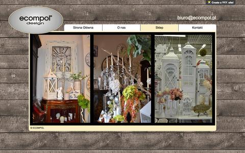Screenshot of Home Page wix.com - Ecompol artykuły dekoracyjne i florystyczne scrabooking, rękodzieło - captured Oct. 11, 2015