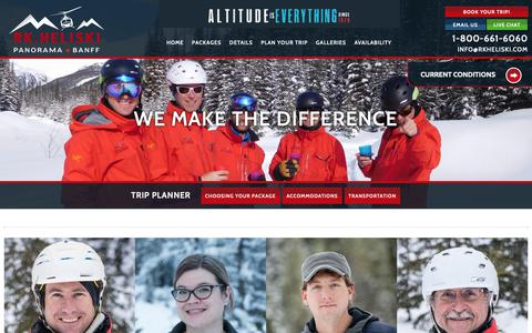 Screenshot of Team Page rkheliski.com - We make the difference | R.K. Heliski | Daily & Private Heli-Skiing | Panorama BC - captured Oct. 18, 2018