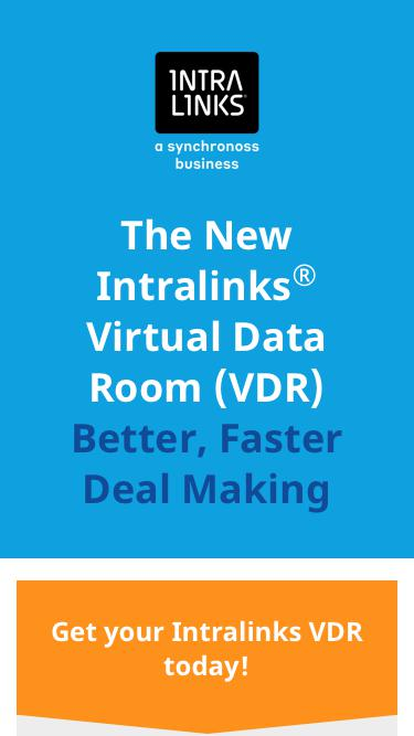 The New Intralinks® Virtual Data Room (VDR)