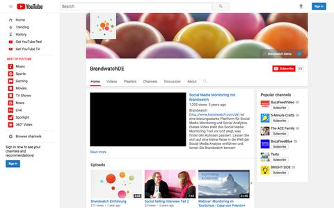 BrandwatchDE  - YouTube