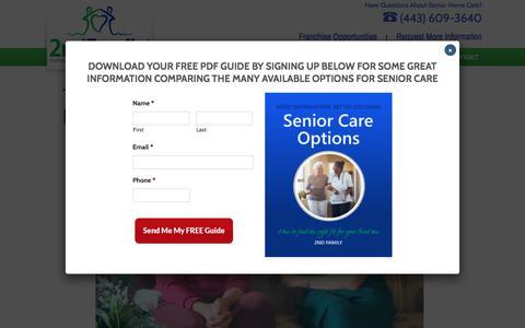 Screenshot of Testimonials Page 2ndfamily.com - Maryland Senior Care Testimonials | 2nd Family - captured Sept. 20, 2018