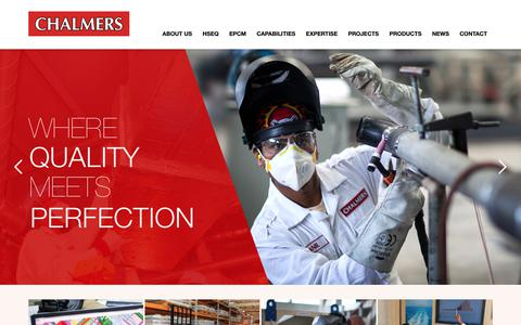 Screenshot of Home Page chalmers.ae - Chalmers Engineering - captured Sept. 27, 2018
