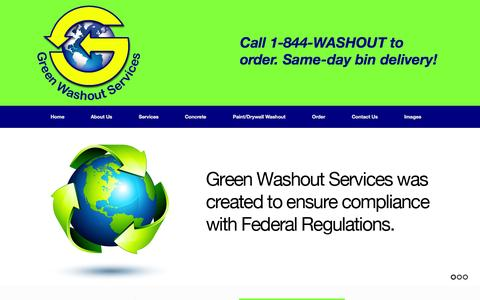 Screenshot of Home Page greenwashoutservices.com - Green Washout Services | Concrete Washout, Paint Washout Drywall Washout - captured Sept. 30, 2014