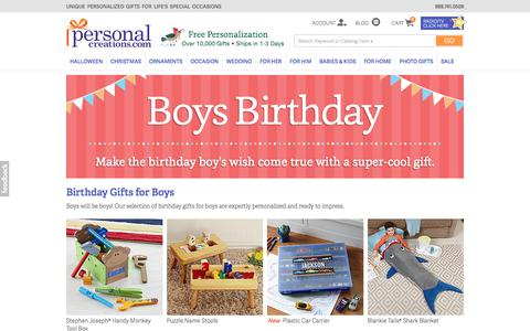 Personalized Birthday Gifts for Boys from Personal Creations