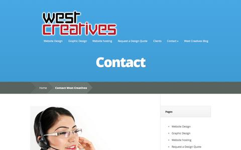 Screenshot of Contact Page westcreatives.co.uk - Contact West Creatives - captured Oct. 26, 2014