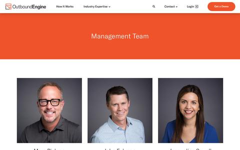 Screenshot of Team Page outboundengine.com - OutboundEngine Team - OutboundEngine - captured Nov. 4, 2018
