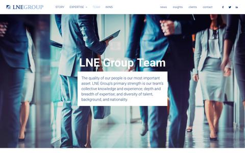 Screenshot of Team Page lnegroup.com - LNE Group – LNE Group Team - captured May 12, 2017