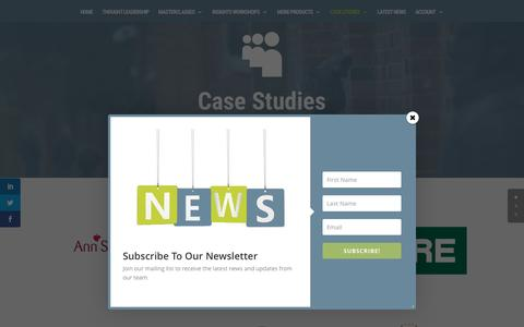 Screenshot of Case Studies Page supplychainacademy.org.uk - Customers | The Supply Chain Academy - captured Dec. 22, 2016
