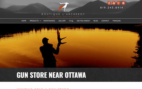 Screenshot of Products Page larcherot.com - Hunting Gear and Gun Store near Ottawa | Boutique l'Archerot - captured July 3, 2018