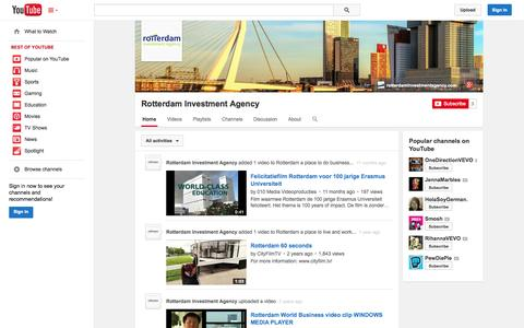Screenshot of YouTube Page youtube.com - Rotterdam Investment Agency  - YouTube - captured Oct. 26, 2014
