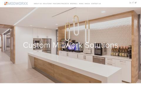 Screenshot of Home Page modworxx.com - Modworxx - captured Dec. 6, 2016