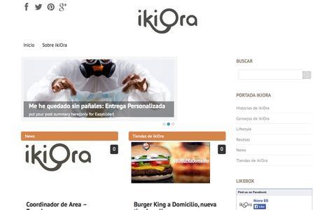 Screenshot of Blog ikiora.es - ikiora Blog - captured Sept. 30, 2014