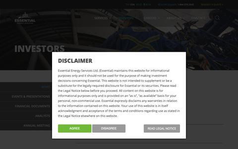 Screenshot of Press Page essentialenergy.ca - News » Essential Energy Services - captured Sept. 29, 2018