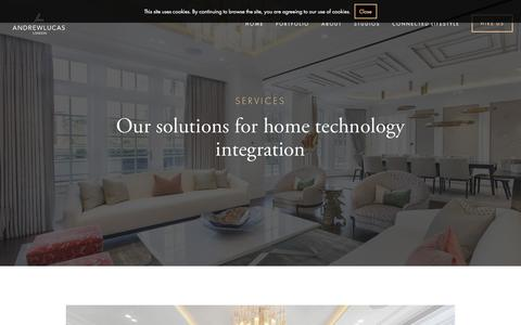 Screenshot of Services Page andrew-lucas.com - Services — Andrew Lucas London - captured Nov. 20, 2016