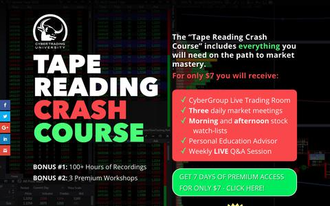 Screenshot of Trial Page cybertradinguniversity.com - Trial - Cyber Trading University - captured Oct. 27, 2018