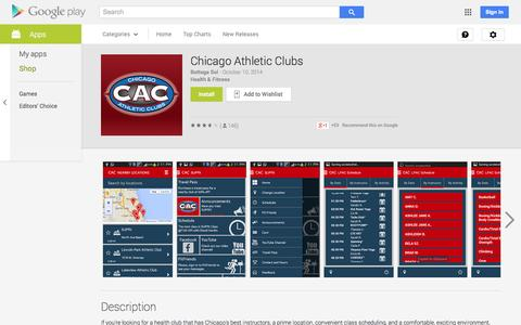 Screenshot of Android App Page google.com - Chicago Athletic Clubs - Android Apps on Google Play - captured Oct. 22, 2014