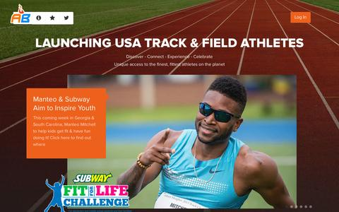 Screenshot of Home Page athletebiz.us - AthleteBiz - captured Sept. 30, 2014