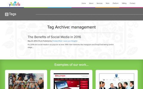 Screenshot of Team Page yabstadigital.com - Management | Yabsta Digital - captured July 21, 2016