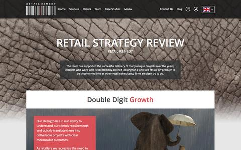 Screenshot of Case Studies Page retailremedy.com - Retail Strategy Experts | Retail Strategy Consultants - captured Oct. 1, 2014