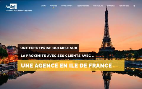 Screenshot of Home Page axsell.fr - Axsell – Force de vente Energie - captured May 31, 2017